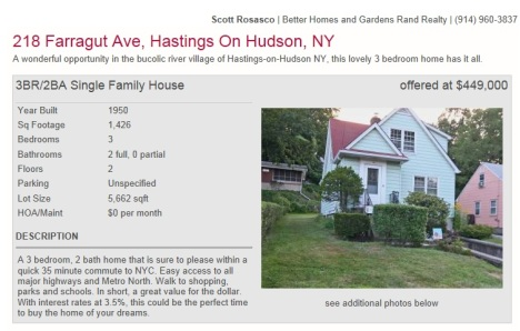 218 Farragut Avenue, Hastings-on-Hudson NY