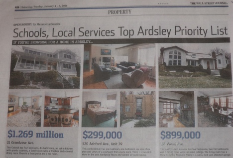 Ardsley NY Featured in The Wall Street Journal