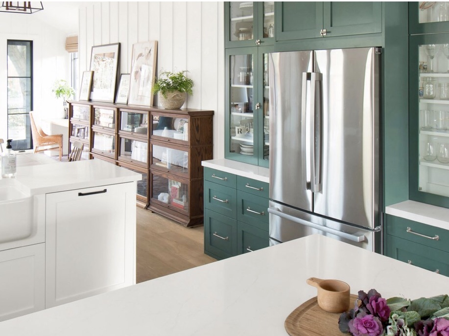 Lovely Built In Glass Front Cabinets With Semihandmade